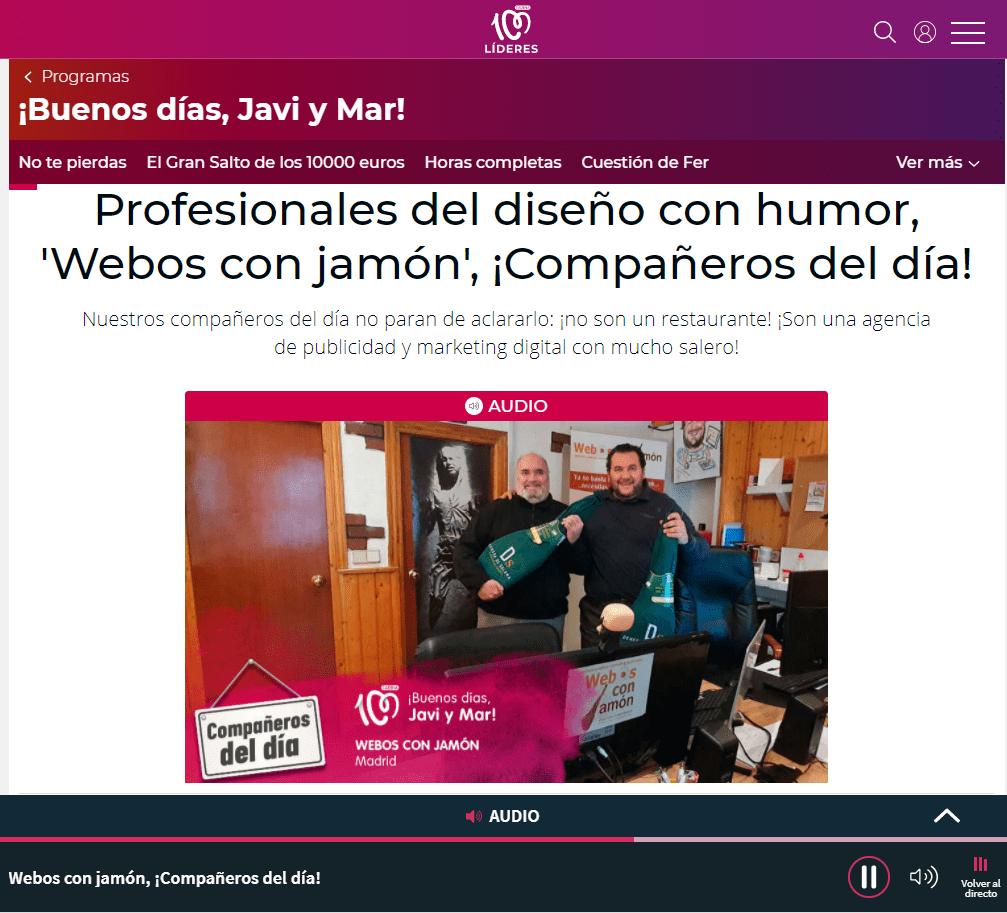 Webosconjamon en Cadena100
